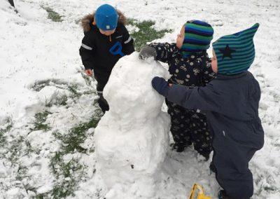 Den bliver stor vores snemand