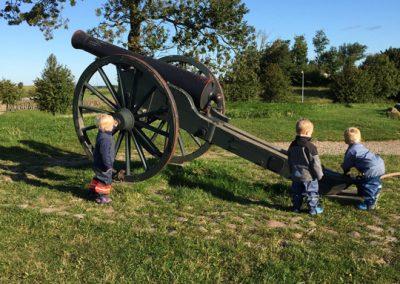 Op og klatre på den store kanon